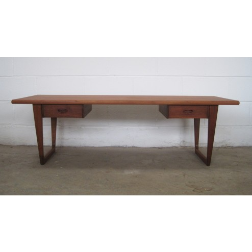 Danish Teak Twin Drawer Coffee Table - Denmark c1960s