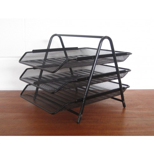 Perforated metal filing rack - Mategot style c 1970s - England