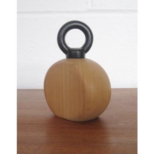 Nissen - Danish beech and metal bell weight pepper grinder c1980s - Denmark