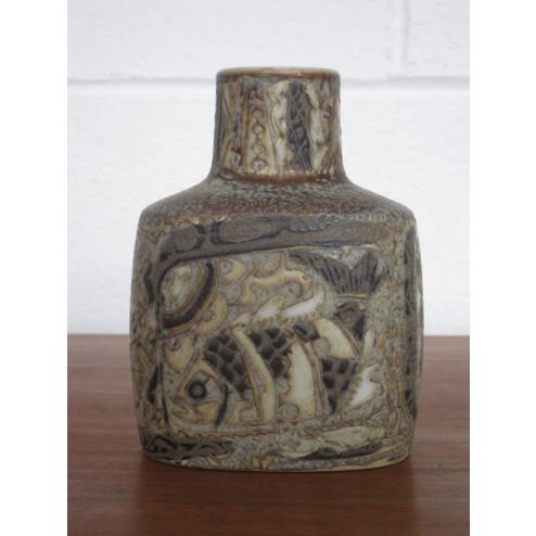 "Baca fajance ""Fish"" vase by Nils Thorsson for Royal Copenhagen c1968 - Denmark"