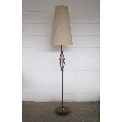 "English ""Biomorphic"" standard lamp in mahogany c1960s - England"