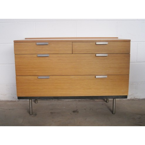 "Stag ""Fineline"" low boy chest of drawers by John & Sylvia Reid c1961 - England"