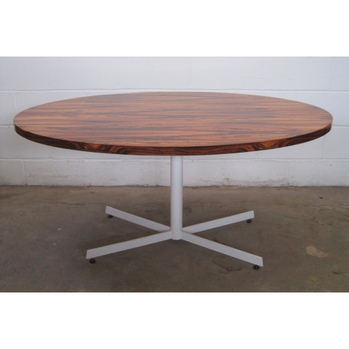 Hans Brattrud style Pedestal base oval dining table c1972 - Norway