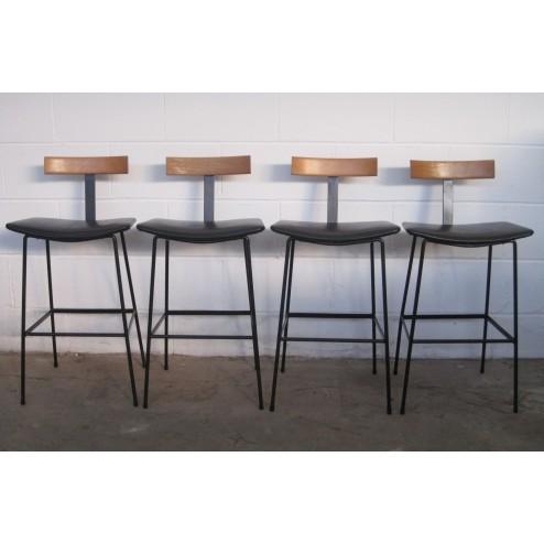 "Kandya ""C32"" Breakfast / Bar stools by Frank Guille c1966 - England."