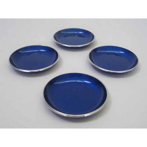 Emalox enamelled coaster set - Norway c1960s