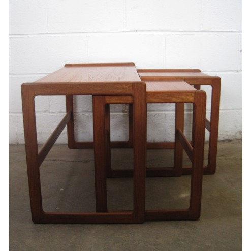 Danish teak nesting table set by Arne Hovmand Olsen for Mogens Kold c1960s - Denmark