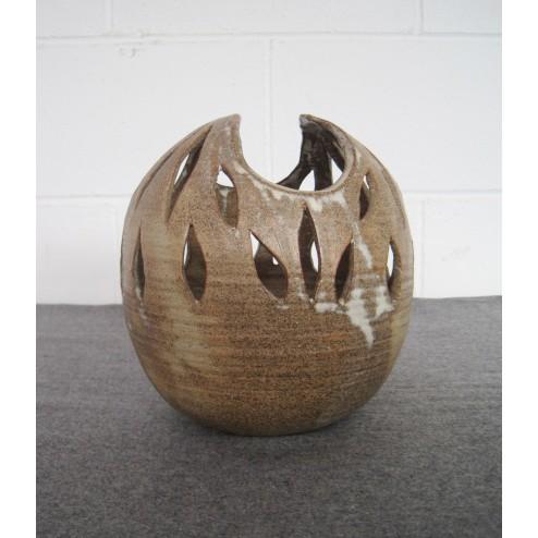 Studio Pottery large Seed Pod Candleholder Votive.c1960s - England