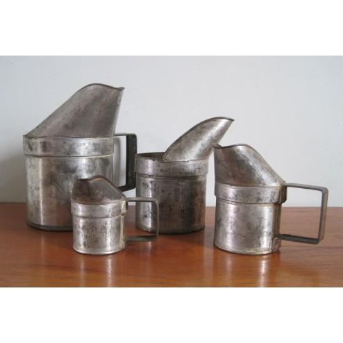 Dutch aluminium  crèmerie / milk jug set c1950s - Holland