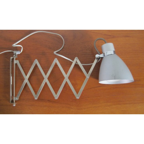 """Bauhaus Style """"Scissor"""" extending wall lamp c1970s"""