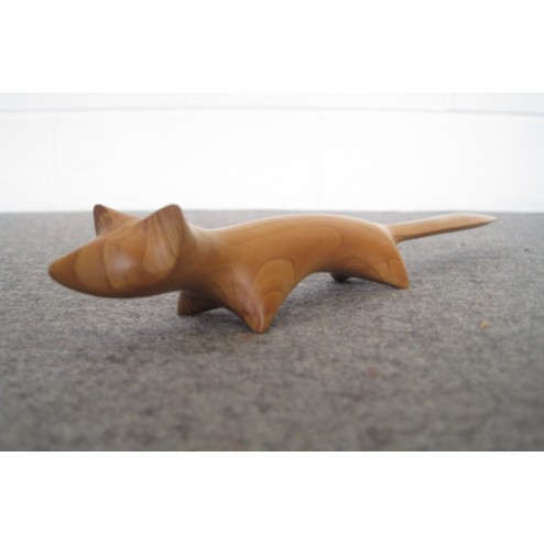 "John Fox carved ""Fox"" Letter Opener in Yew c1960s - England"