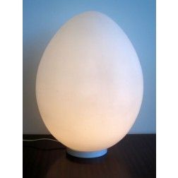 "Ben Swildens large ""Uovo / Egg"" floor or table lamp for Verre Lumiere c1972 - France"