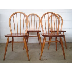 "Ercol multi-purpose ""Windsor"" chairs by Lucian Ercolani c1960s"