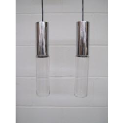 Chelsea range handwrought glass pendant lights by Atlas Lighting ltd c1959 - England