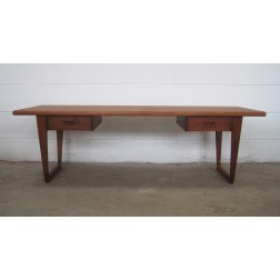 Danish Teak Twin Drawer Coffee Table - Denmark c1960s
