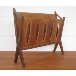 Danish teak & walnut Magazine Rack c1960s - Denmark.