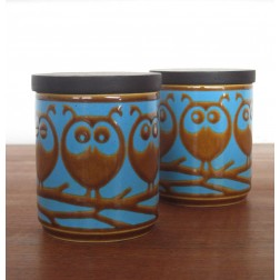 "John Clappison ""Little Owl"" storage pots for Hornsea Pottery c1970s - England"