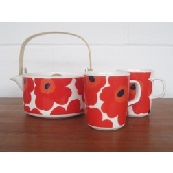 "Marimekko ""Unikko"" Tea for Two by Maija Isola - Finland"