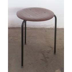 "Arne Jacobsen style ""Three Dot"" Stools, matching pair c1960s - England"