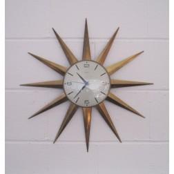 Metamec Sunburst clock c1960s - England