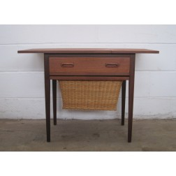 Danish teak extending top sewing table c1960s - Denmark