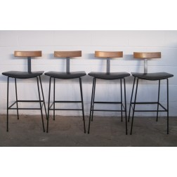 "Kandya ""C32"" Breakfast / Bar stools by Frank Guille c1966 - England."