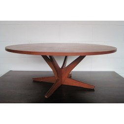 Danish Teak Starburst Coffee Table Model 72 by Georg Søren Jensen for Kubus c1964 - Denmark