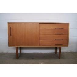 Nils Jonsson 'Lyon' small teak sideboard designed for Hugo Troeds Bjärnum, Sweden c1968