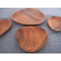 Danish teak serving dish set c1960s - Denmark