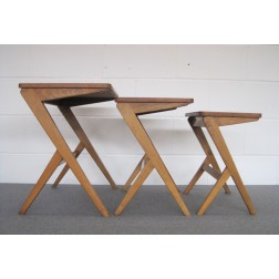 "Bengt Ruda ""Walking"" Nest of Tables for Nordiska Kompaniet c1950s - Sweden"