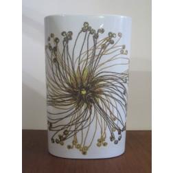 """Ellen Malmer Baca Fajance """"Seedburst"""" vase for Royal Copenhagen c1960s"""
