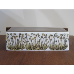 "Ellen Malmer Baca Fajance ""Flowerburst"" kitchen roll holder shelf for Royal Copenhagen c1960s"