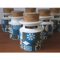 Tivoli spice jars by Susan Williams Eliis for Portmeirion Pottery - England c1964