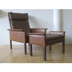 Hans Olsen Model 500H Club Chair & Ottoman for C.S Mobler - Denmark c1962