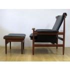 "Finn Juhl ""Bwana"" arm chair and footstool for France & Son"