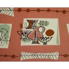 Jacqueline Groag very Rare Groag Textile of Fun Abstract Design