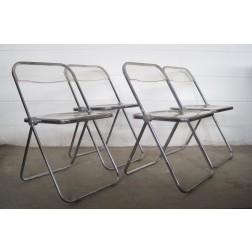 "Castelli ""Plia"" chairs by Giancarlo Piretti c1967 - Italy"