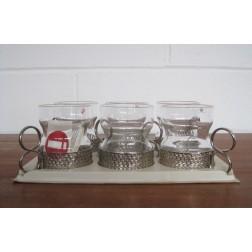 "Iittala ""Tsaikka"" Tea Glasses by Timo Sarpaneva c1972 - Finland"