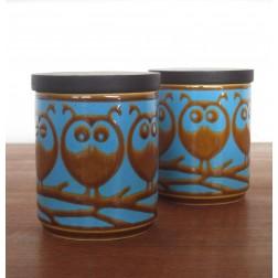 "John Clappison ""Little Owl"" storage pots for Hornsea Pottery c1970s - England"