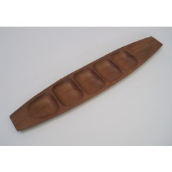 Danish Large & Long Hors d'oeuvre / Snack Tray in teak c1960s - Denmark